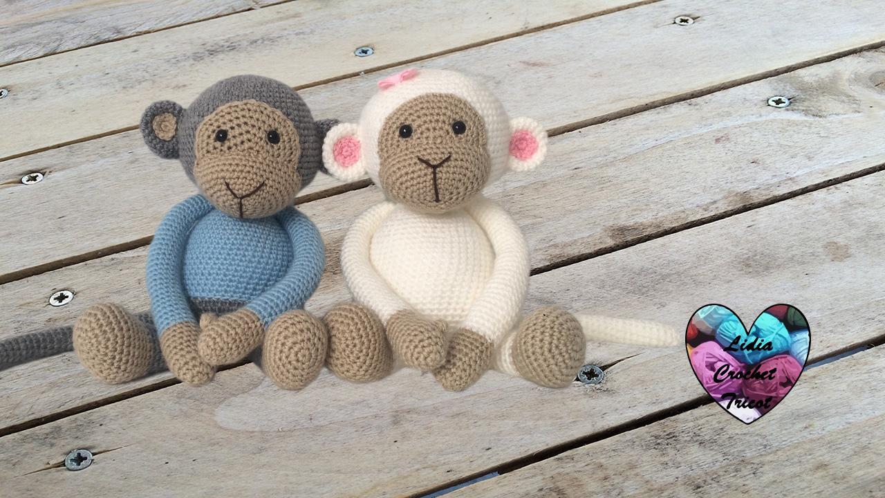singes amigurumi: tutoriel au crochet, gratuit présenté par lidia