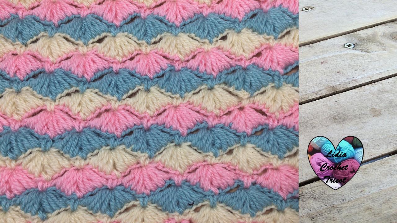 Point coquilles. Points crochet Point splendide couverture crochet fait  main tutoriel DIY Lidia Crochet Tricot 45c5b1916ae