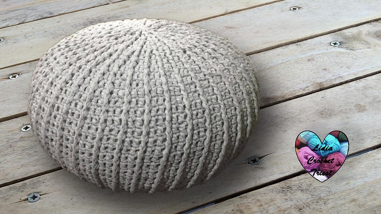 Pouf Trapilho Tendance Tutoriel Présenté Par Lidia Crochet