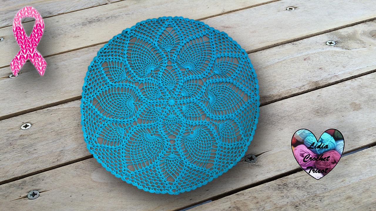 Grand Napperon Au Crochet avec nappe napperon point ananas: tutoriel présenté par lidia crochet tricot