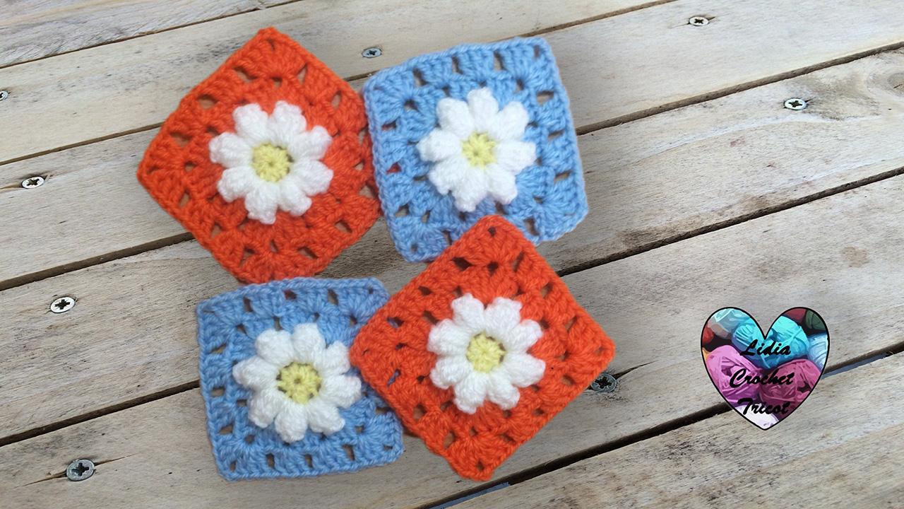 Granny fleur marguerite tutoriel pr sent par lidia crochet tricot - Catalogue de fleurs gratuit ...