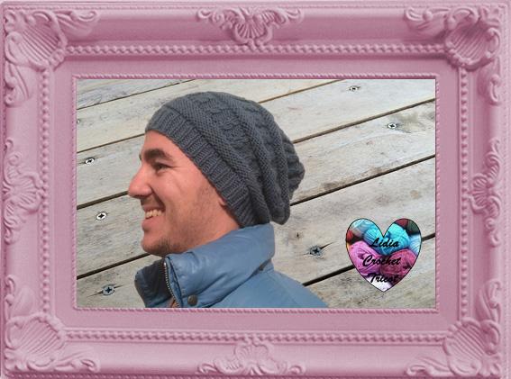 Bonnet homme slouchy tricot fait main tutoriel DIY