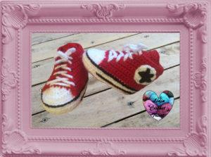 Chaussures Converse bébé crochet fait main tutoriel DIY