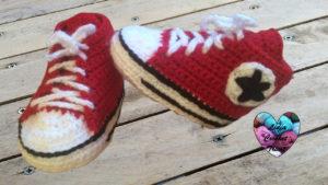 Tutoriels crochet Chaussures Converse crochet fait main tutoriel DIY Lidia Crochet Tricot