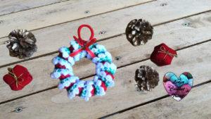 Couronne de Noël Lidia Crochet Tricot
