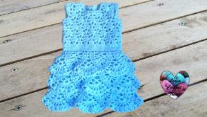Tutoriels crochet Robe à volant crochet fait main tutoriel DIY Lidia Crochet Tricot