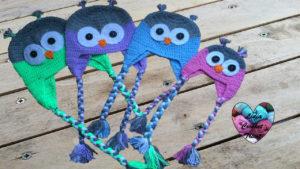 Tutoriels crochet Bonnet hibou toutes tailles crochet fait main tutoriel DIY Lidia Crochet Tricot