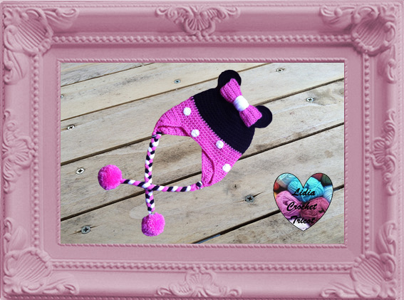 Bonnet Minnie Mouse crochet fait main tutoriel