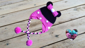 Tutoriels crochet Bonnet Minnie Mouse crochet fait main tutoriel DIY Lidia Crochet Tricot