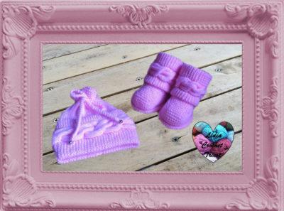 Bonnet torsade chaussures Uggs tricot fait main tutoriel DIY
