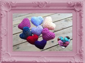 Coeurs amigurumi crochet fait main tutoriel DIY