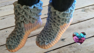 Tutoriels crochet Chaussons point crocodile crochet fait main tutoriel DIY Lidia Crochet Tricot