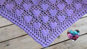 Tutoriels crochet Châle coeurs crochet fait main tutoriel DIY Lidia Crochet Tricot