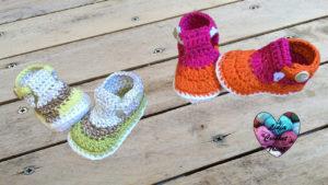 Tutoriels crochet Sandales bébé crochet fait main tutoriel DIY Lidia Crochet Tricot