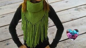 Tutoriels crochet Col à franges crochet fait main tutoriel DIY Lidia Crochet Tricot