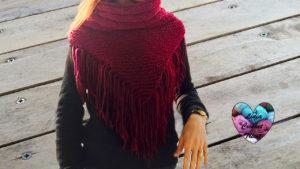 Tutoriels tricot Col à franges tendance tricot facile fait main tutoriel DIY Lidia Crochet Tricot