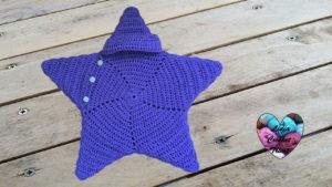 Tutoriels crochet Cocoon bébé étoile crochet fait main tutoriel DIY Lidia Crochet Tricot
