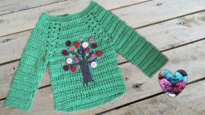 Tutoriels crochet Pull enfant arbre crochet fait main tutoriel DIY Lidia Crochet Tricot