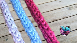 Points tricot Cordon I-cord tricot facile fait main tutoriel DIY Lidia Crochet Tricot