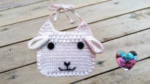 Tutoriels crochet Bavoir bébé mouton crochet fait main tutoriel DIY Lidia Crochet Tricot