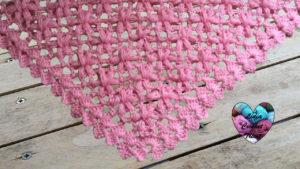 Châle fleurs puff Lidia Crochet Tricot