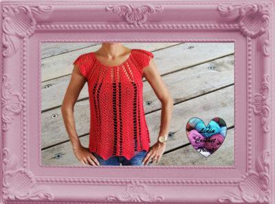 Haut blouse femme crochet fait main tutoriel DIY