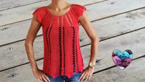 Tutoriels crochet Blouse ajourée crochet fait main tutoriel DIY Lidia Crochet Tricot