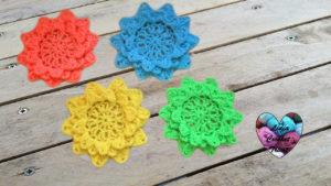Tutoriels crochet Fleurs étoiles crochet fait main tutoriel DIY Lidia Crochet Tricot