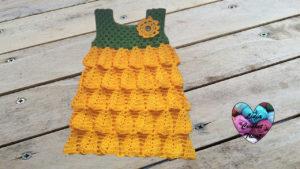 Tutoriels crochet Robe tournesol été fille crochet fait main tutoriel DIY Lidia Crochet Tricot