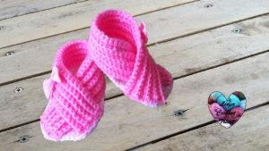Tutoriels crochet Sandals croisées bébé unisex crochet fait main tutoriel DIY Lidia Crochet Tricot