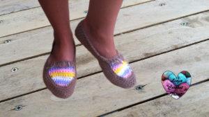 Tutoriels crochet Chaussures mocassins femme crochet fait main tutoriel DIY Lidia Crochet Tricot