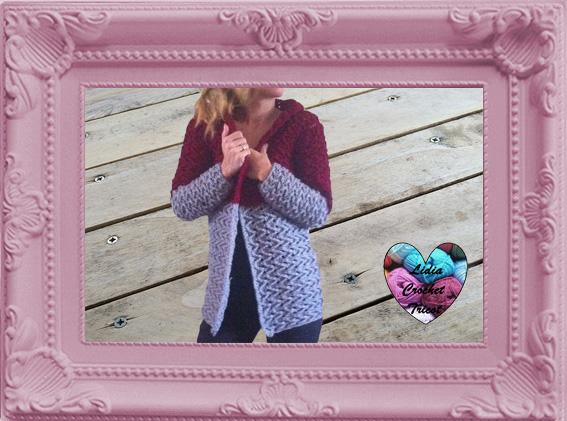 Cardigan veste manteau femme crochet fait main tutoriel DIY