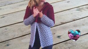 Tutoriels crochet Cardigan veste manteau femme crochet fait main tutoriel DIY Lidia Crochet Tricot