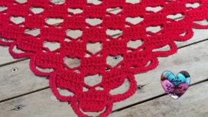 Tutoriels crochet Châle amour coeurs crochet fait main tutoriel DIY Lidia Crochet Tricot
