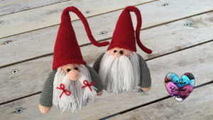 Gnome de Noël Papa Lidia Crochet Tricot