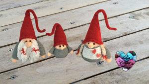Gnome de Noël maman Lidia Crochet Tricot