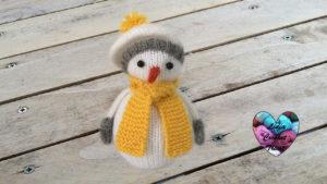 Tutoriels tricot Bonhomme de neige amigurumi tricot facile fait main tutoriel DIY Lidia Crochet Tricot