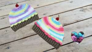 Tutoriels crochet Bonnet cup cake crochet fait main tutoriel DIY Lidia Crochet Tricot