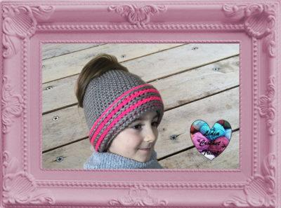 Messy Bun bonnet crochet fait main tutoriel DIY