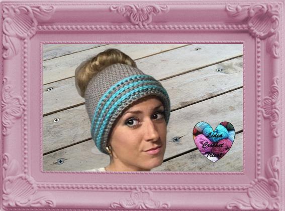 Messy bun bonnet femme crochet fait main tutoriel DIY