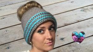 Tutoriels crochet Bonnet Messy Bun femme crochet fait main tutoriel DIY Lidia Crochet Tricot