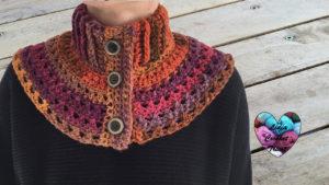 Tutoriels crochet Chauffe épaules femme crochet fait main tutoriel DIY Lidia Crochet Tricot
