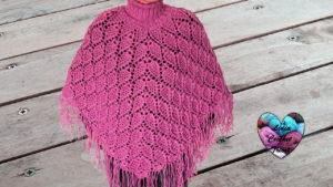 Tutoriels crochet Poncho feuilles femme crochet fait main tutoriel DIY Lidia Crochet Tricot