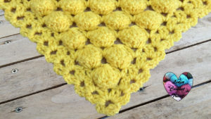 Tutoriels crochet Châle point boules crochet fait main tutoriel DIY Lidia Crochet Tricot