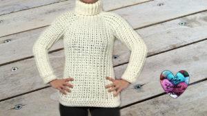 Tutoriels crochet Pull unisex toutes tailles crochet fait main tutoriel DIY Lidia Crochet Tricot