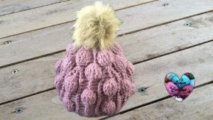 Tutoriels crochet Bonnet boules relief crochet fait main tutoriel DIY Lidia Crochet Tricot