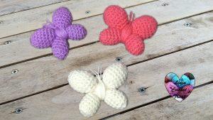 Papillons amigurumi crochet Lidia Crochet Tricot