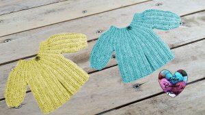 Tutoriels crochet Brassière bébé facile au crochet fait main tutoriel DIY Lidia Crochet Tricot