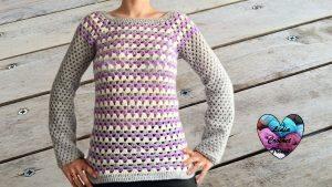 Pull granny crochet tutoriel gratuit DIY Lidia Crochet Tricot
