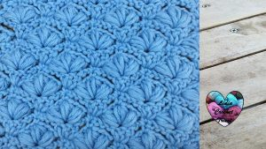 Point fleuri relief crochet Lidia Crochet Tricot